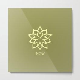 NOW ZEN Moss Green color Metal Print