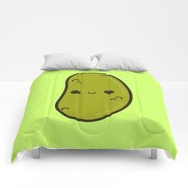 Cute gherkin Comforters