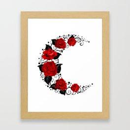 Moon of Red Roses Framed Art Print