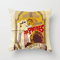 Dr. Phibes Locust Lager Throw Pillow