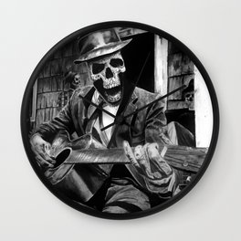 Chillin playing the Blues Wall Clock