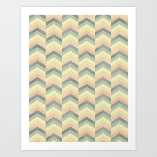 Chevron Graphic Art Print