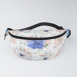 Blue + Pink Garden Floral Fanny Pack