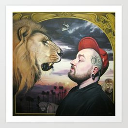 In the Midst of Lions Art Print