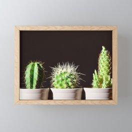 Cactus Flowerpot Plant Framed Mini Art Print