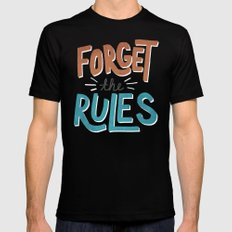 Forget the Rules Mens Fitted Tee 2X-LARGE Black