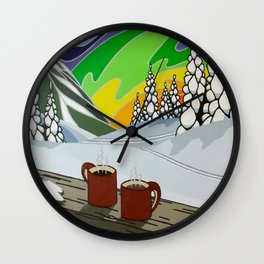At Home in the Woods Wall Clock