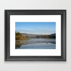 Sunrise Mirror Landscape Framed Art Print