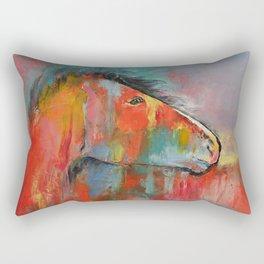 Red Horse Rectangular Pillow