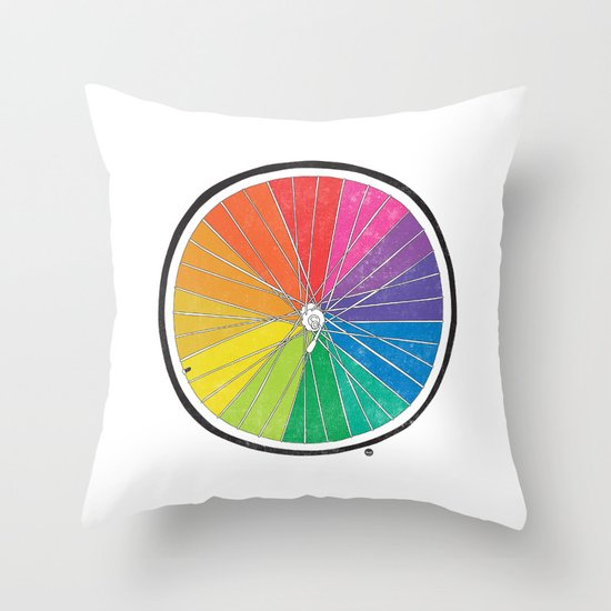 Color Wheel (Society6 Edition) Throw Pillow