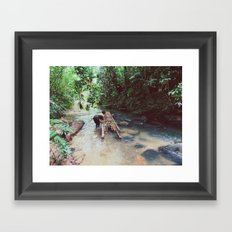 Borneo river rafting Framed Art Print