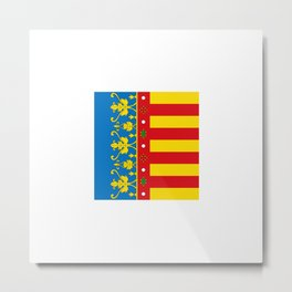 flag of Valence Metal Print