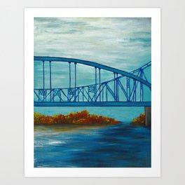Fall Cass Street Bridge 3 of 4 Art Print