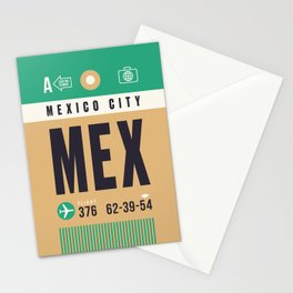 Baggage Tag A - MEX Mexico City Stationery Cards