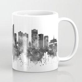Phnom Penh Cambodia Skyline BW Coffee Mug