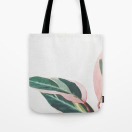 Pink Leaves II Tote Bag
