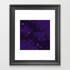 Halloween Galaxy Framed Art Print