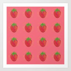 Strawberry Sweetness Art Print