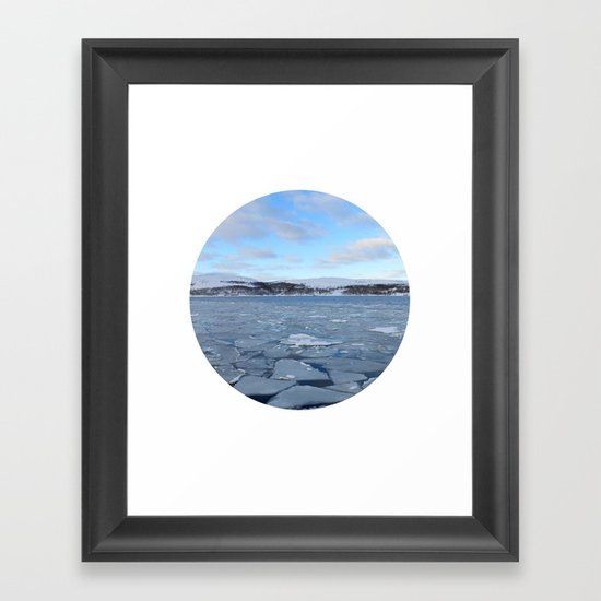 Telescope 9 ice floe Framed Art Print