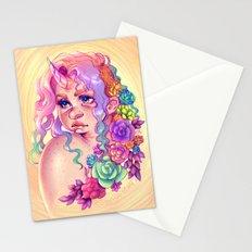 Succulent Unicorn Stationery Cards