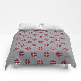 Scandinavian / Grey + Red Comforters