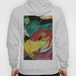 """Franz Marc """"Cows, Yellow-Red-Green"""" Hoody"""