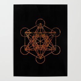 Sacred Geometry Metatron's Cube Poster