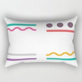Geometric abstract exotic color #society6 #decor #buyart #artprint Rectangular Pillow