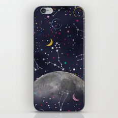 Colorful Mystic Galaxy Constellation Moon Stars and Cosmic Space iPhone & iPod Skin