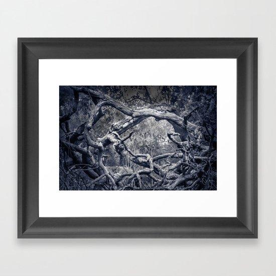 Twisted Window Framed Art Print