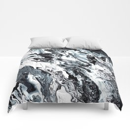 Marble in Black and White Comforters