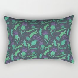 Scottish Thistle Pattern Rectangular Pillow