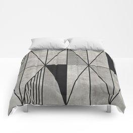 Concrete Triangles Comforters