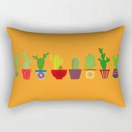 Cactus in Orange Rectangular Pillow