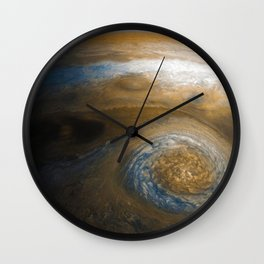 Jupiter's Great Red Spot from Junocam (2017) Wall Clock