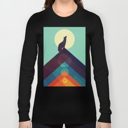 Howling Wild Wolf Long Sleeve T-shirt