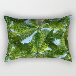 Coconut trees leaves pattern Rectangular Pillow