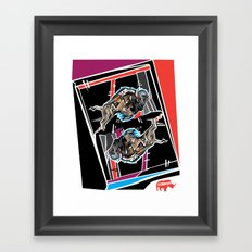 Buffalo Brawl 1 Framed Art Print