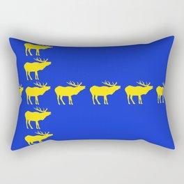 Graphic Swedish Elk Flag III Rectangular Pillow