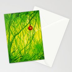 Green Christmas Stationery Cards