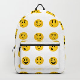 Cute Emoji pattern Backpack