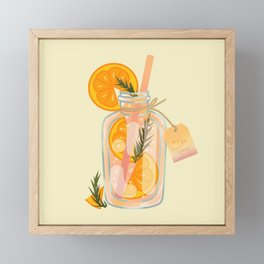 Orange Tea Framed Mini Art Print