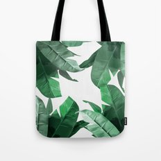 Tropical Palm Print Tote Bag