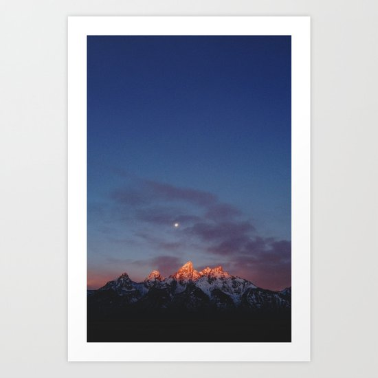 Teton Tips Art Print