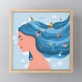 I Dream Of Summer Framed Mini Art Print