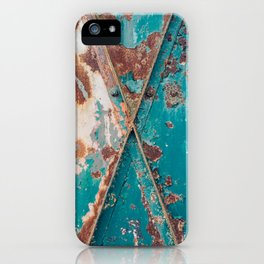 Teal and Rust iPhone Case