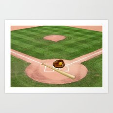 Baseball field /Baseballfeld2 Art Print