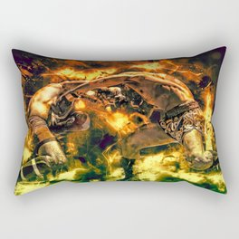 Fight Night Rectangular Pillow