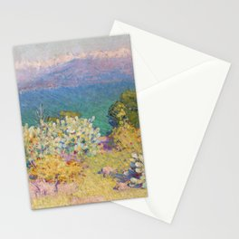 John Peter Russell - In the morning, Alpes Maritimes from Antibes Stationery Cards