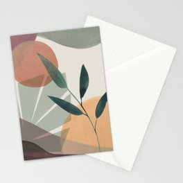 Tropical Leaves Abstract I Stationery Cards